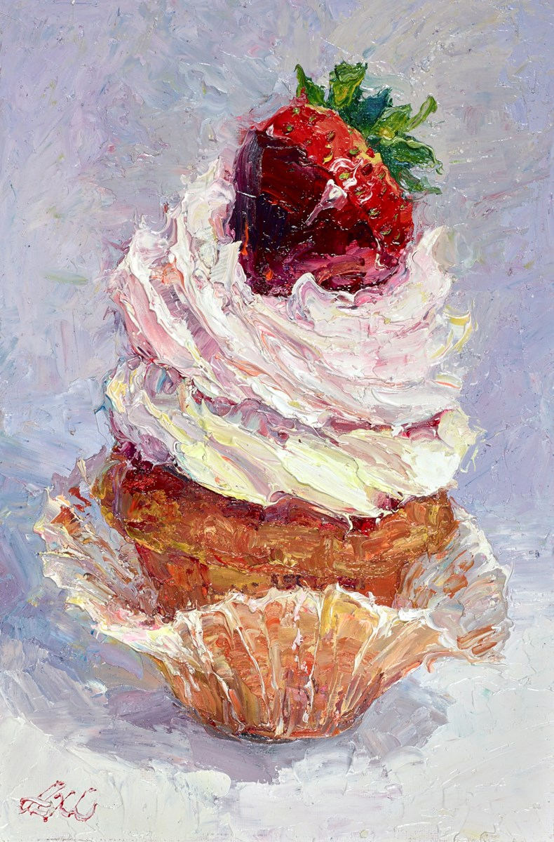 Sweet Cupcake Portrait I by lana okiro -  sized 6x9 inches. Available from Whitewall Galleries